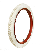 "30x3 Wards Riverside(24"" Rim) Clincher All White"