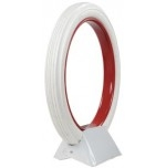 30x3 Universal Clincher All White Ribbed