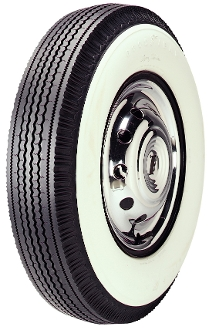 "670-15 Goodyear Custom Super Cushion 4-1/4"" Whitewall"
