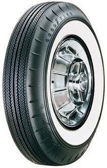 "750-14 Goodyear Custom Super Cushion 2-1/4"" Whitewall"
