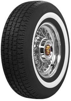 "Description That 70's Cadillac style tire! Proudly made in the USA Details/Options SKU 700219L Construction Tubeless Poly/Steel Load Capacity 2028 @ 35 psi Overall Diameter 28.80"" Tread Width 6.72"""