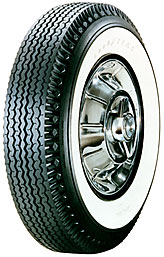 "760-15 Goodyear Super Cushion Deluxe 2-3/4"" Whitewall"